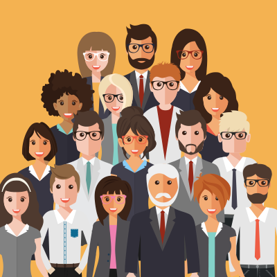 Human Resources - image with many work staff