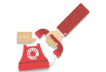 top navigation icon image for points of contact